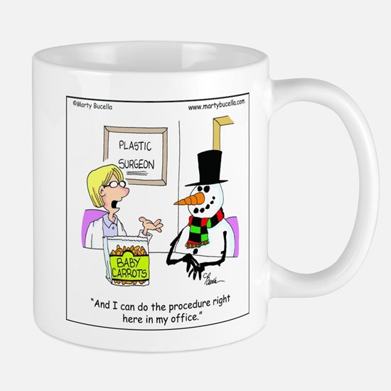Snowman gets a nose job Mug