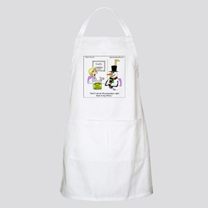 Snowman gets a nose job Apron