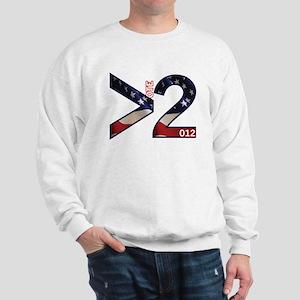 Vote 2012 Greater Than 2 Sweatshirt