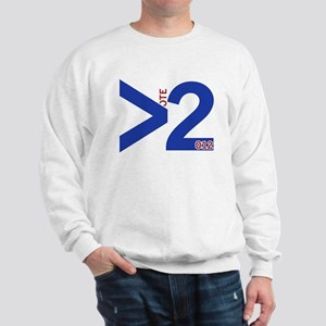 Vote 2012 - Greater Than 2 - BLUE Sweatshirt