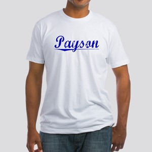 Payson, Blue, Aged Fitted T-Shirt