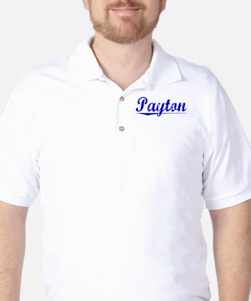 Payton, Blue, Aged Golf Shirt