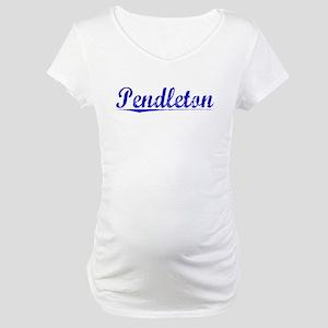 Pendleton, Blue, Aged Maternity T-Shirt