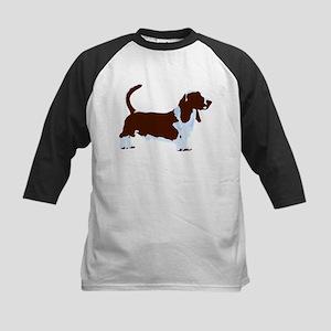 Basset Hound Pop Art dog Kids Baseball Jersey