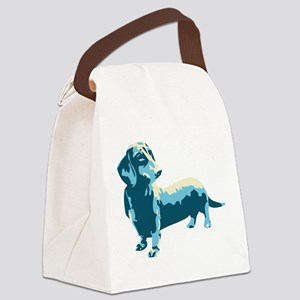 Dachshund Pop Art dog Canvas Lunch Bag