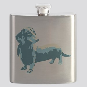 Dachshund Pop Art dog Flask