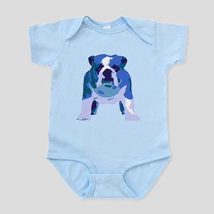 English Bulldog Pop Art Infant Bodysuit