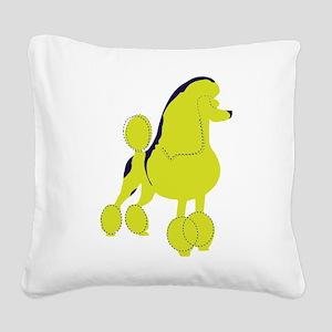 Poodle Pop Art dog Square Canvas Pillow