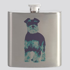 Schnauzer Pop Art dog Flask