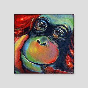 "'Orangutan Sam' Square Sticker 3"" x 3"""