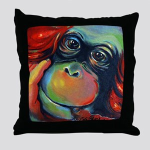 'Orangutan Sam' Throw Pillow