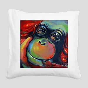 Orangutan Sam Square Canvas Pillow