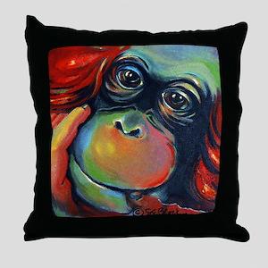 Orangutan Sam Throw Pillow