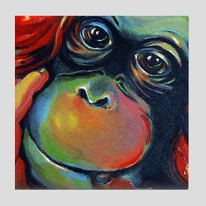 Orangutan Sam Tile Coaster