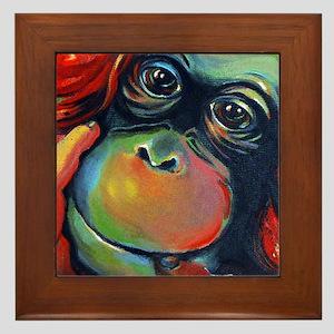 Orangutan Sam Framed Tile