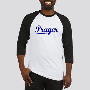 Prager, Blue, Aged Baseball Jersey
