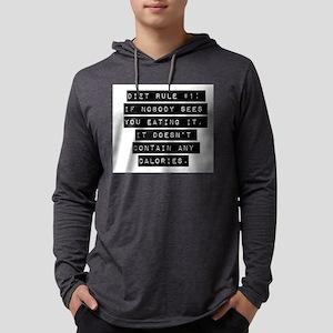 Diet Rule Number 1 Mens Hooded Shirt