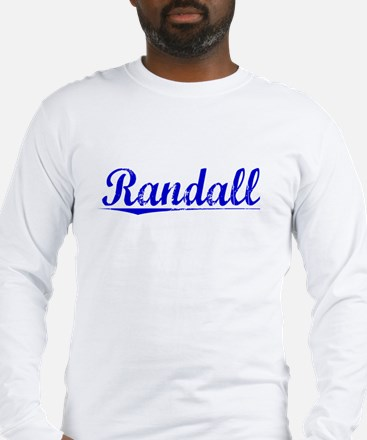 Randall, Blue, Aged Long Sleeve T-Shirt