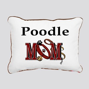 Poodle Mom Rectangular Canvas Pillow