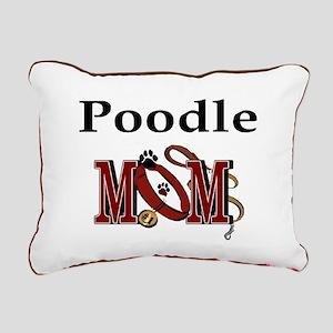 Poodle Mom Rectangular Canvas Pillow