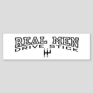 Real Men Drive Stick Sticker (Bumper)