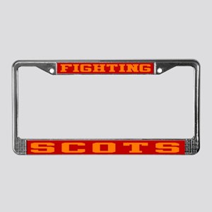 Fighting Scots License Plate Frame