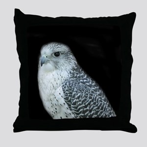 GyrFalcon out on the town Throw Pillow