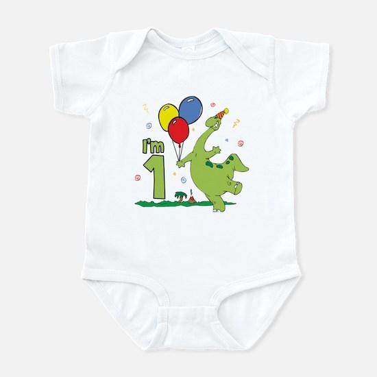 Dino First Birthday Infant Bodysuit