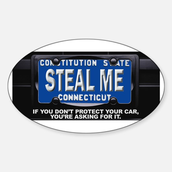 Steal My Conneticut Car Sticker (Oval)