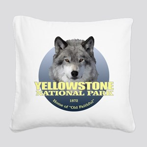 Yellowstone NP Square Canvas Pillow