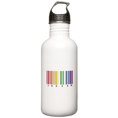 gay pride barcode Stainless Water Bottle 1.0L