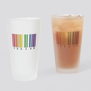 gay pride barcode Drinking Glass