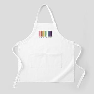 gay pride barcode Apron