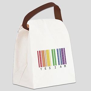 gay pride barcode Canvas Lunch Bag