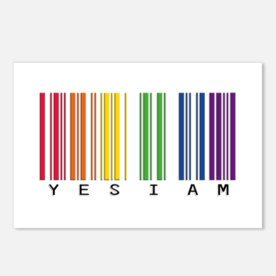 gay pride barcode Postcards (Package of 8)