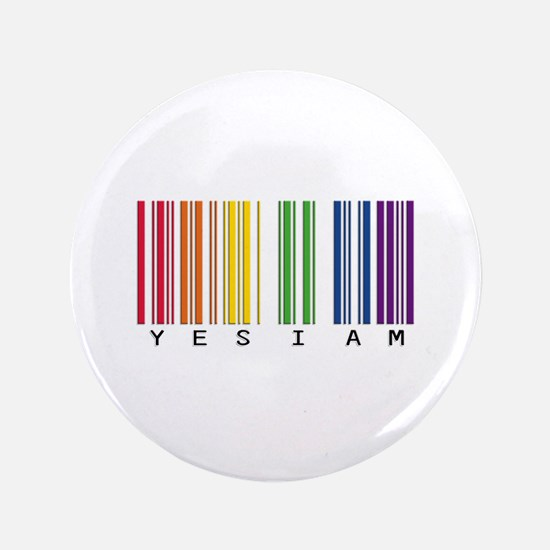 "gay pride barcode 3.5"" Button"