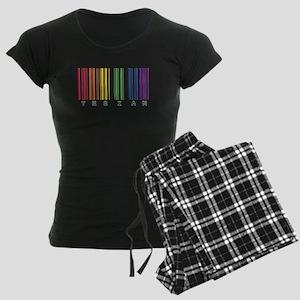 gay pride barcode Women's Dark Pajamas