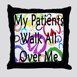 My Patients Walk All Over Me (Horse Hooves) Throw