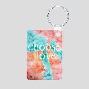 Choose Love Aluminum Photo Keychain