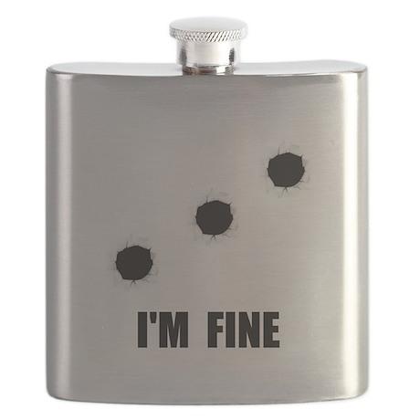 Bullet Holes Fine Flask