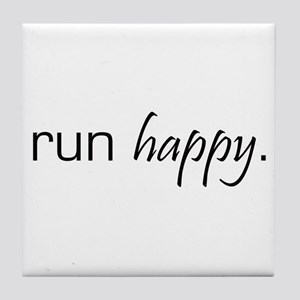 Run Happy Tile Coaster