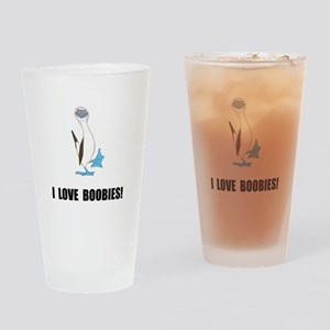 Love Boobies Drinking Glass