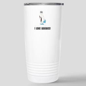 Love Boobies Stainless Steel Travel Mug