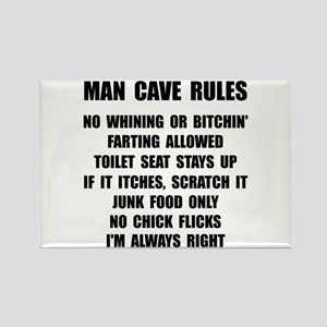Man Cave Rules Rectangle Magnet (10 pack)