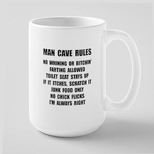 Man Cave Rules Large Mug
