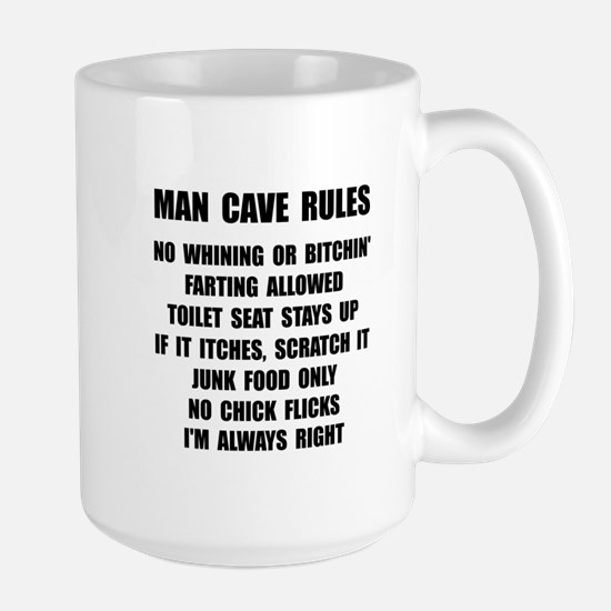 Man Cave Rules Large Mug