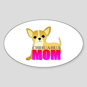 Chihuahua Mom Oval Sticker