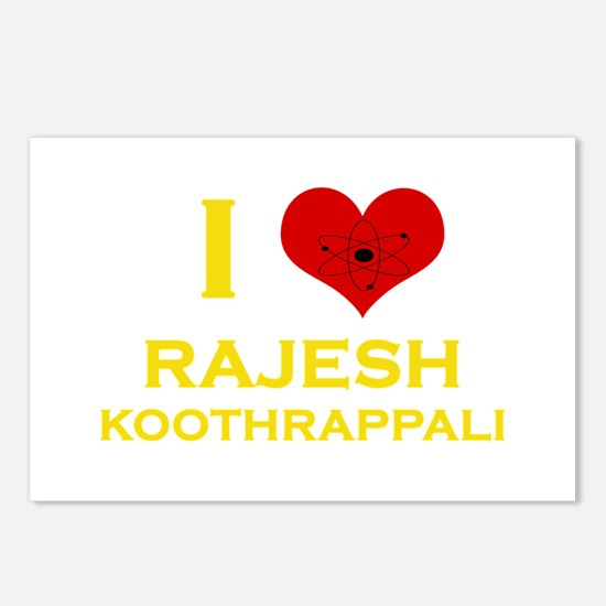 I Heart Rajesh Koothrappali Postcards (Package of
