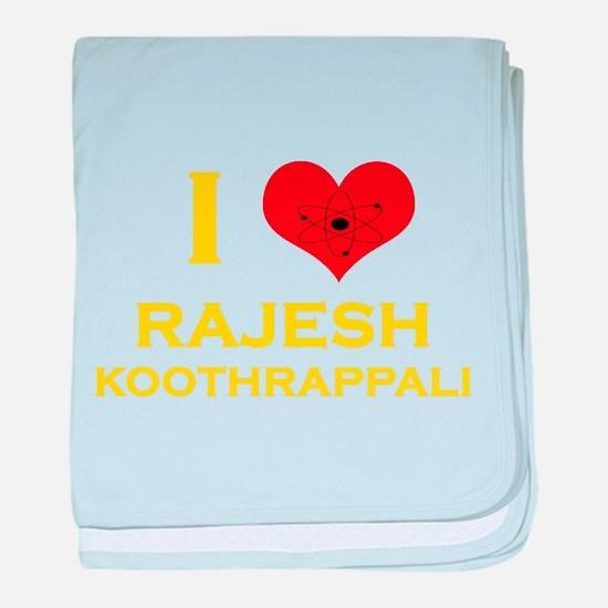 I Heart Rajesh Koothrappali baby blanket