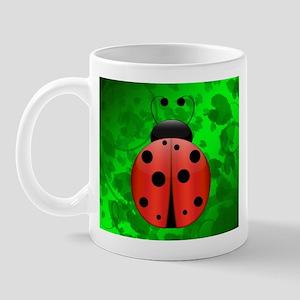 Ladybug on leaves (Mug)